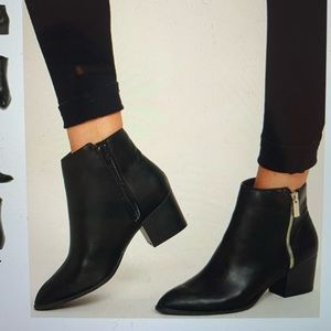Lulu's Illusion Black Pointed Ankle Booties